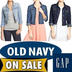 Mujer GAP Old Navy Denim Oeste Corto Jean Jacket = XS S M L Xl Xxl