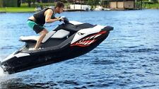 Sea-Doo Bombardier Spark 2 3 Jet Graphic Jetski seadoo shark mouth decal red