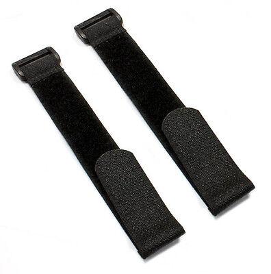 2x Klettband Schwarz Akku Lipo 260mm x 20mm Empfänger Akkuband Klettgurt Strap