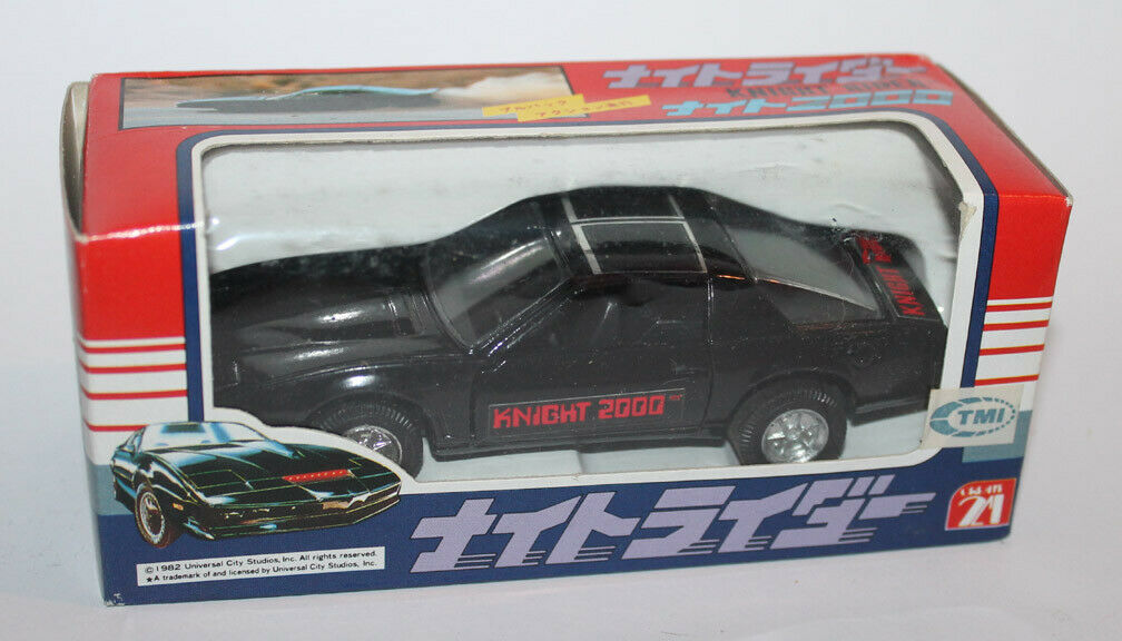 1982 Create 21 Japan Japanese Knight Rider KITT Firebird Die-Cast Die-Cast Die-Cast Car Boxed a91921