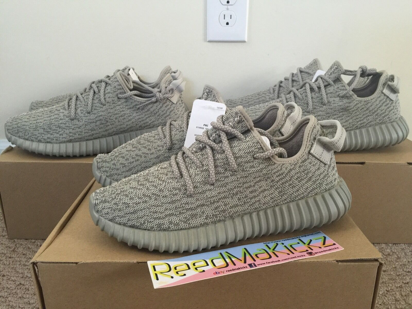 Adidas Yeezy Boost 350 x Kanye west Moonrock mens size 10.5 us 100% AUTHENTIC