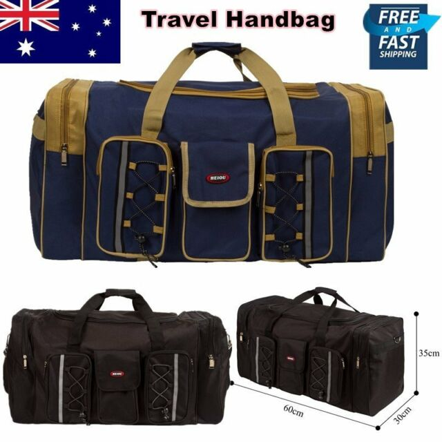 Sports Mens Travel Duffle Bag Canvas Duffel Gym Small Large Overnight Handbag AU
