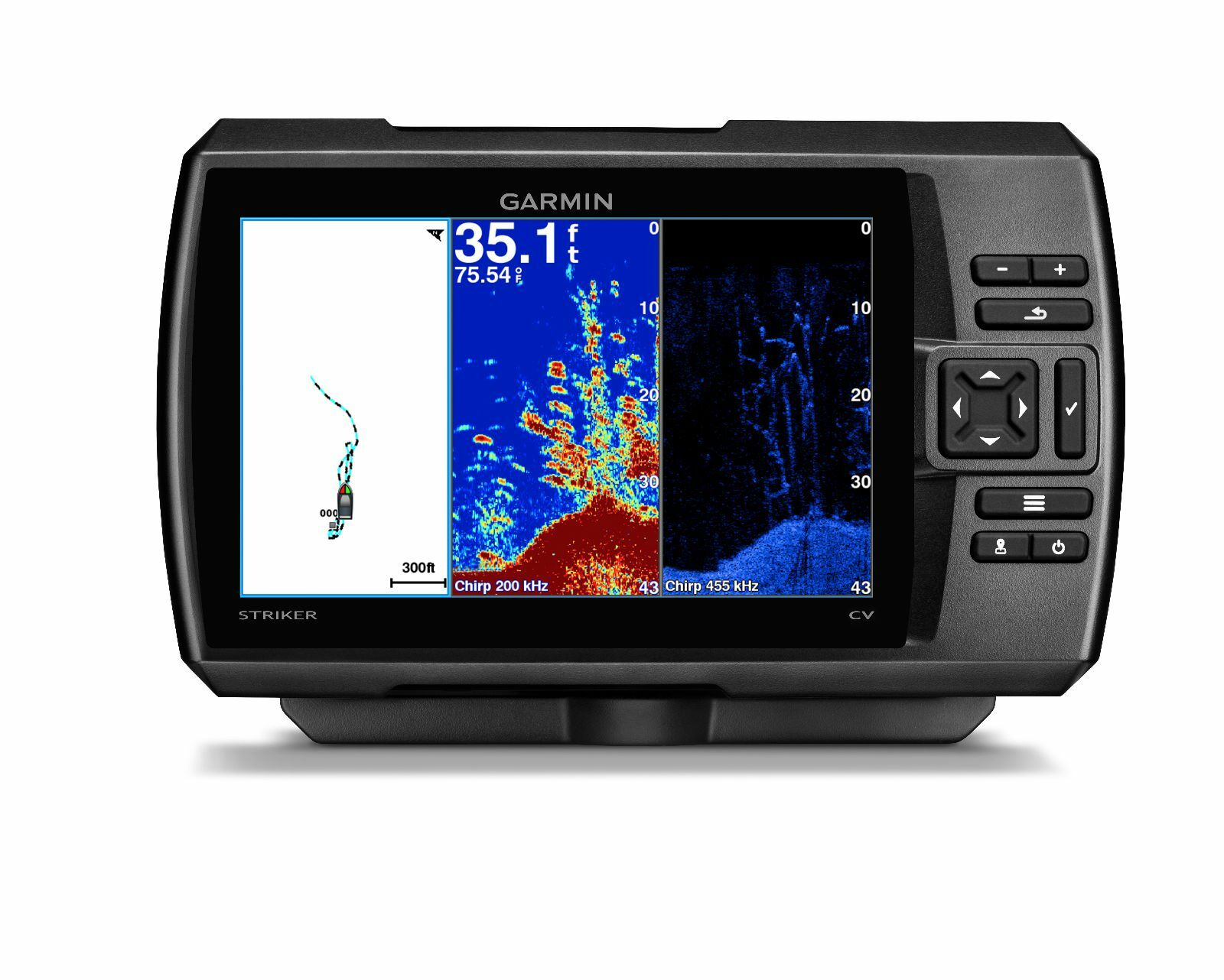 Garmin STRIKER 7cv Fishfinder w  ClearVu Sonar Transducer 010-01808-00 BRAND NEW
