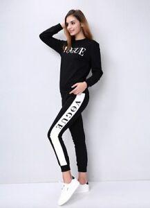Dettagli su Tuta Sportiva Donna Vogue Inverno 2 Pz. Fashion Fitness