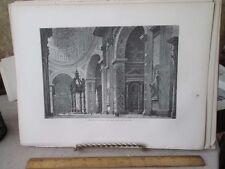 Vintage Print,INTERIOR ST PETERS,Rome,Francis Wey,1872