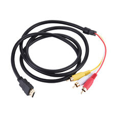 1.5M HDMI Male to 3 RCA AV Audio Video Cable Adapter 5FT 1080P For TV HDTV DVD