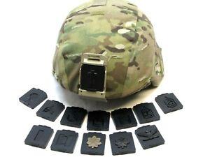 US ARMY NVG BASE PLATE RANK INSIGNIA HELMET RANKS FITS IN NIGHT VISION BRACKET