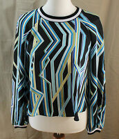 Bisou, Bisou, Xs, Grid Print Top, With Tags