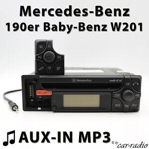 MERCEDES-AUDIO-10-CD-mf2199-Aux-in-mp3-190er-radio-BABY-Benz-Autoradio-w201