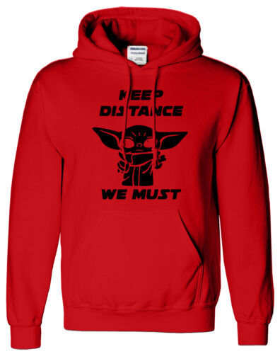 Social Distancing Inspired Mens T Shirt Hoodie Baby Yoda We Must Kids SweatShirt