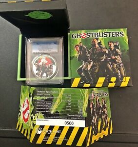 2017-1-GHOSTBUSTERS-CREW-TUVALU-PCGS-MS70-First-Day-Of-Issue-BEAUTIFUL-COIN