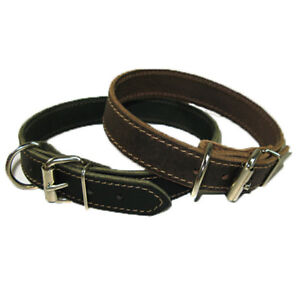 1-034-Handmade-Solid-Buffalo-Leather-Dog-Collar-with-Stitched-Edges