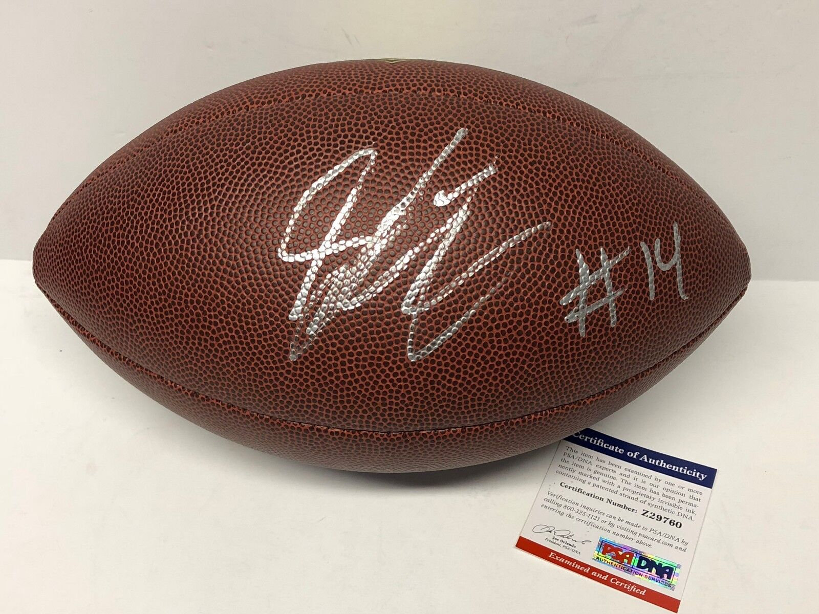 Sammie Coates Signed Wilson Composite Football *Pittsburgh Steelers PSA Z29760