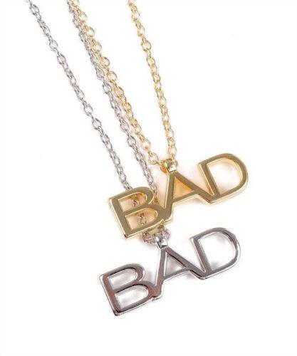 "/""Bad/"" Logo Statement Necklace"
