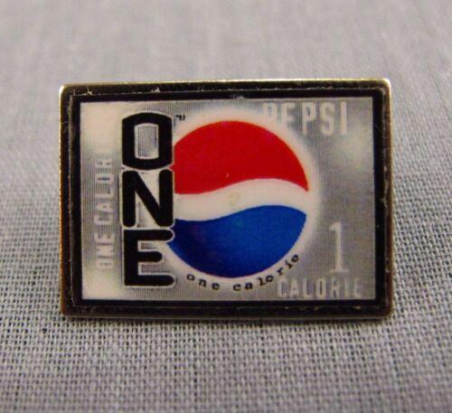 "Pepsi One Pin Lapel Hat Pinback Tie Tack NEW 0.75/"" 1 Calorie Soda Rectangle"