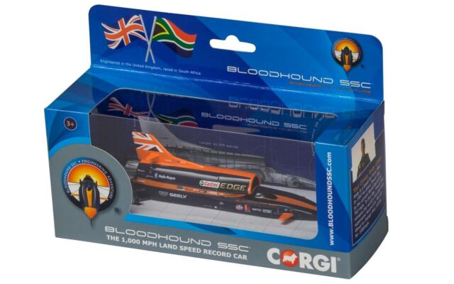 Corgi BLOODHOUND SSC, UK Display Version - new 2017 Livery - TY81002