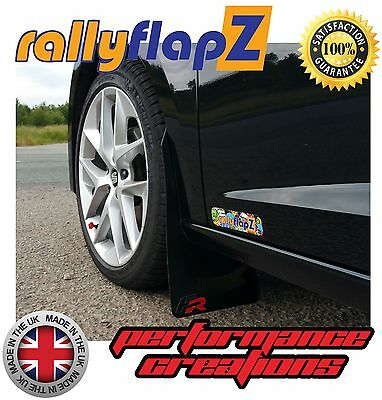 2012on Red Rally Bavettes splash guards FITS PEUGEOT 208