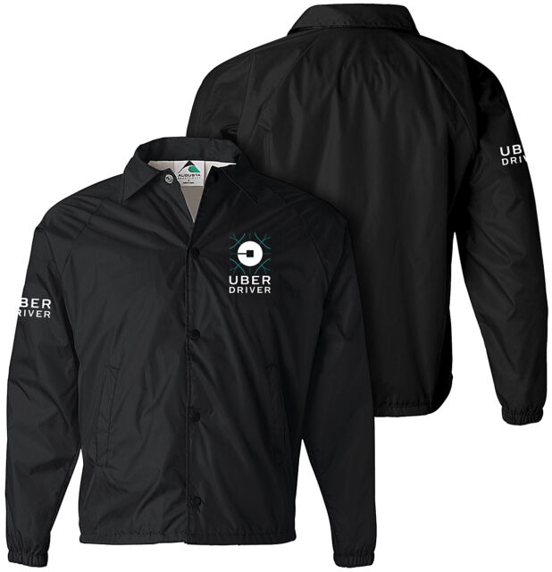 UBER jacket, UBER driver jacket, Ridesharing, Taxi, Professional, SCREEN PRINTED