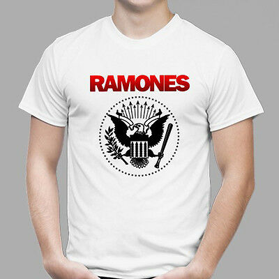 New THE RAMONES Metal Punk Rock Band Legend Men/'s Black T-Shirt Size S to 3XL