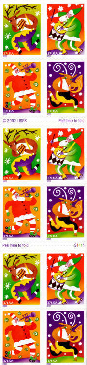 2003 37c Holiday Music Makers, SA, Booklet of 20 Scott
