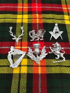 Highland Wear Balmoral Cap Badges Stag Head Silver Finish Glengarry Caps Badge