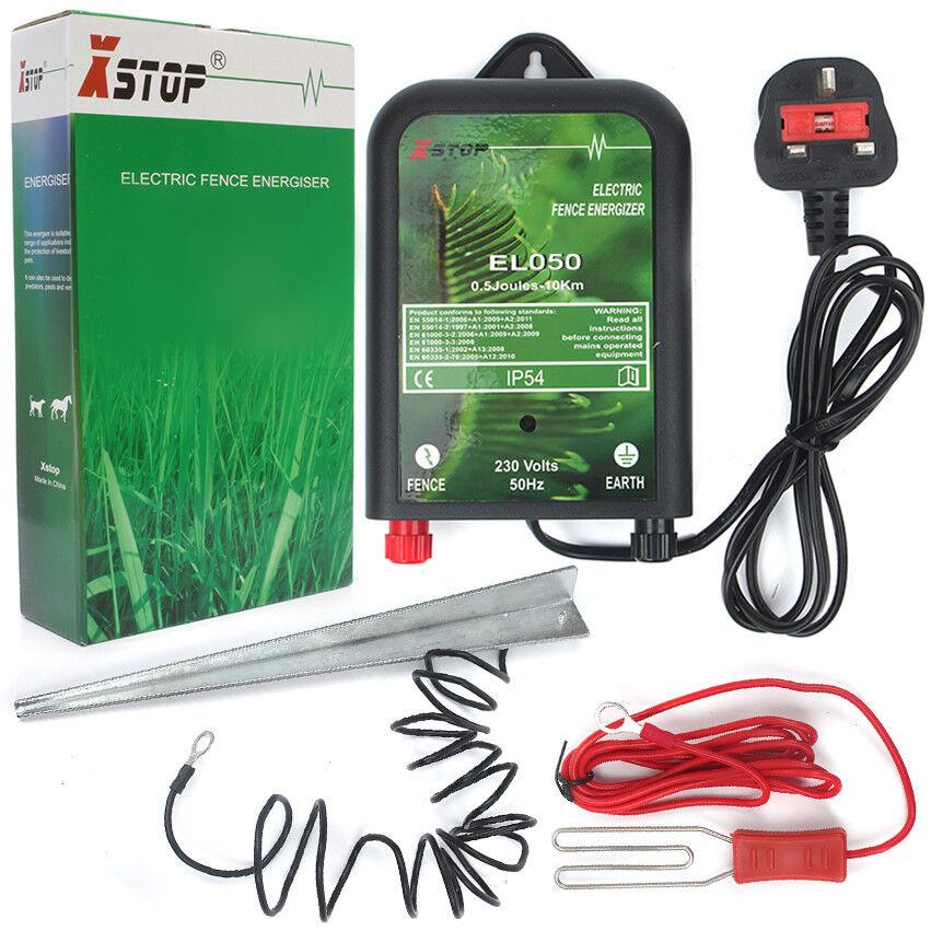 Kit Completo 230v Rete Elettrica Recinto Recinzione Energizzante Unità Ce Rohs +
