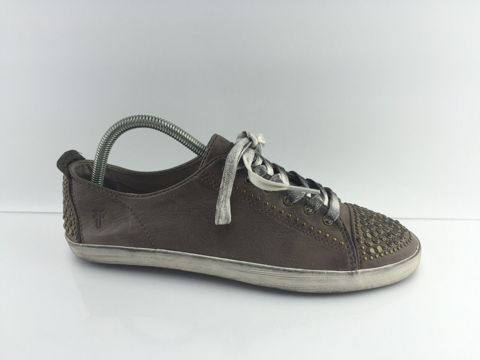 Frye Women's Grey/taupe Leather Shoes 9.5 M