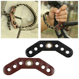 Archery-Compound-Bow-Wrist-Sling-Braided-Cord-Rope-Leather-Sheet-12-4-0-5cm