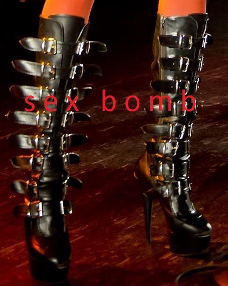 SEXY STIVALI neri vernice cinghiette TACCO 15 con plateau DAL 36 AL 44 GLAMOUR