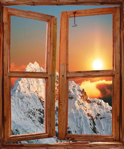 Aufkleber Schein Auge Fenster Deko Berg ref 736