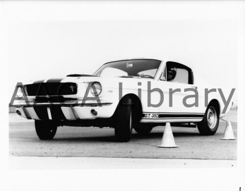Factory Photo Ref. # 74705 1965 Ford Shelby Mustang GT350 on track