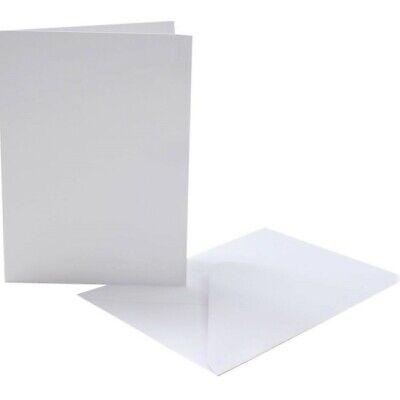 "Pre Creased 5 x 7/"" Premium White Card Blanks /& Envelopes"