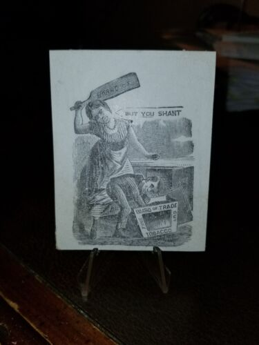 1880s Trade Blotter Card Board of TRADE cher spanking student