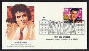 #2721 29c Elvis, Fleetwood-King FDC Cualquier 5=