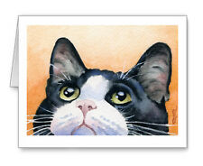 TUXEDO CAT Set of 10 Note Cards With Envelopes