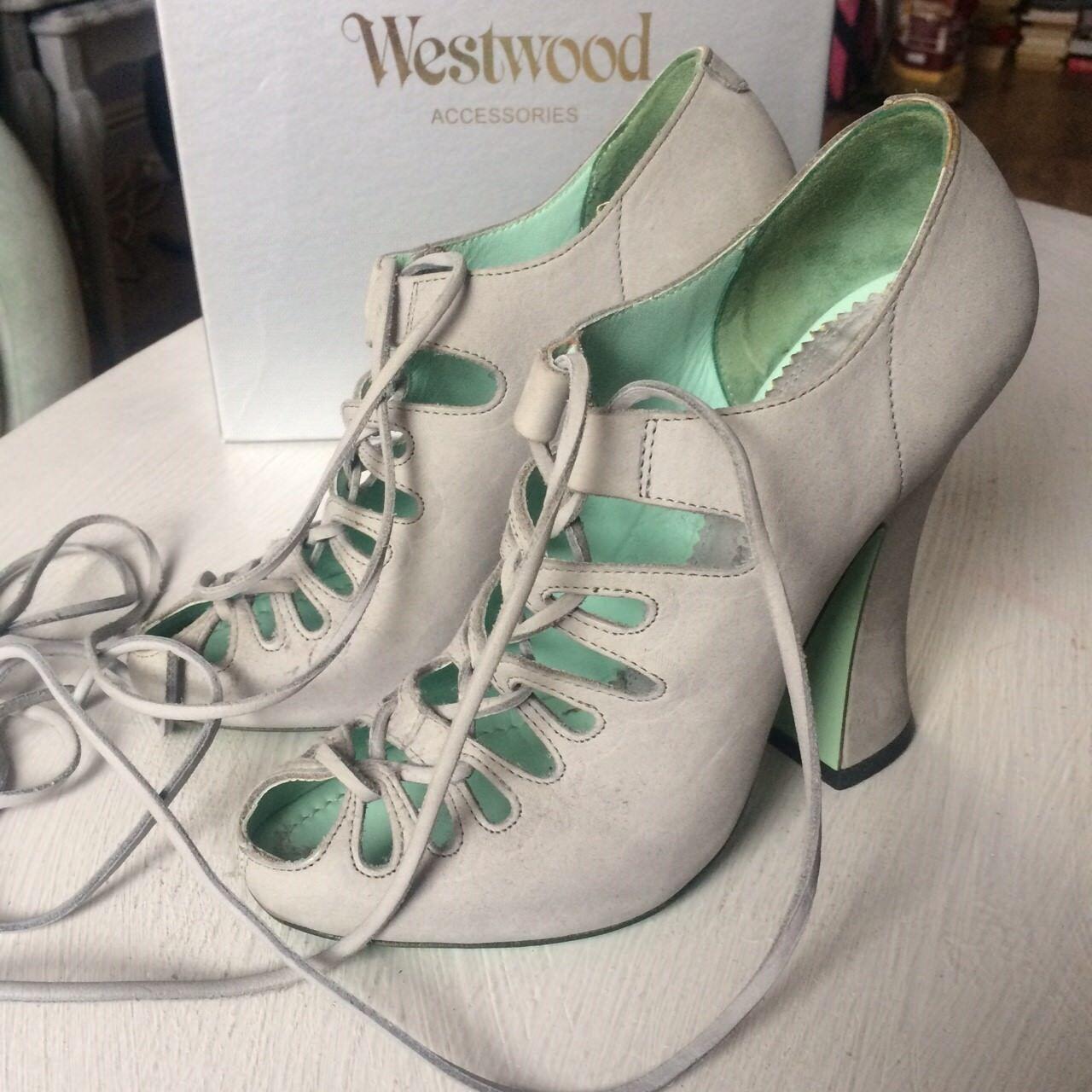 Vivienne westwood baroque cusnak grey shoes heels lace up UK5 rare