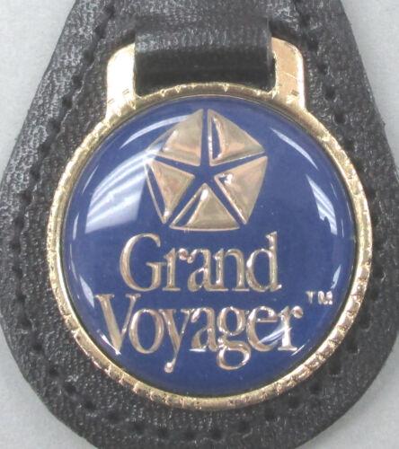 Chrysler GRAND VOYAGER Leather Goldtone Pentastar Keyring 2000 2001 2002 2003