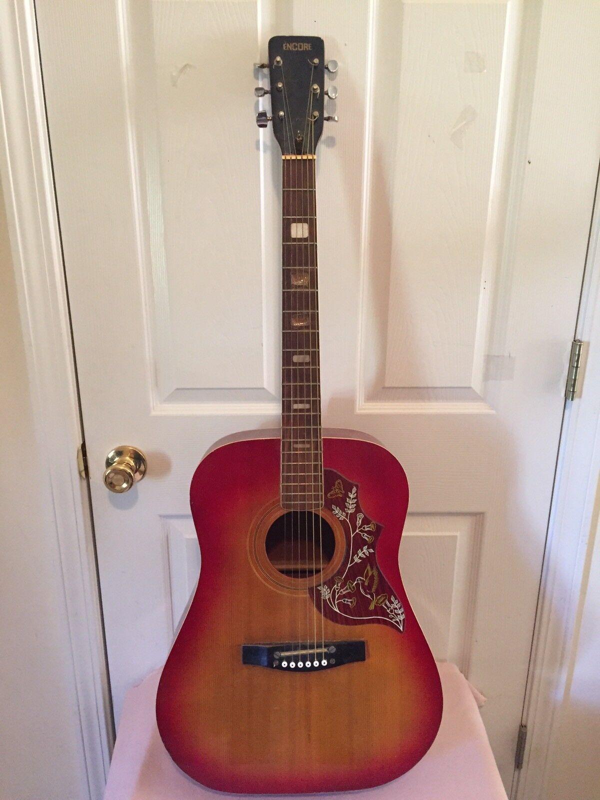 Vintage Encore Left Handed Acoustic Guitar