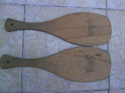 ancien jeux la palma  Pelote Basque Vintage 2 Raquettes
