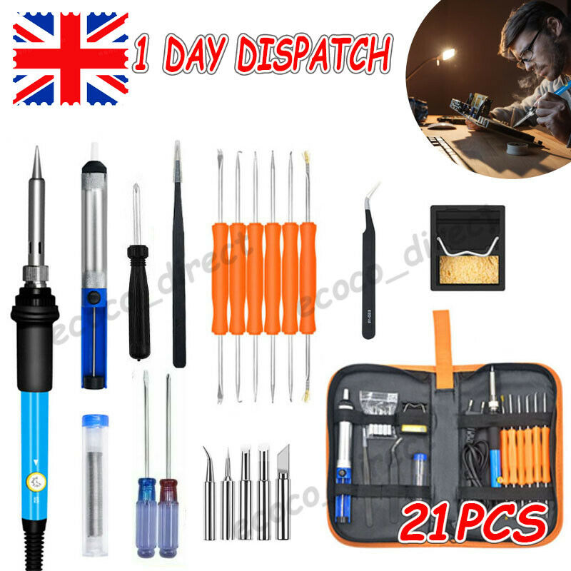 21-In-1 Soldering Iron Kit 60W 220V Electronics Welding Irons Tool Repair Tools
