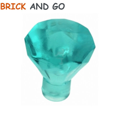 bleu clair trans-light blue 6 x LEGO 30153 Diamant Diamond Rock Jewel NEW