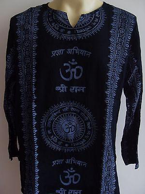 Om Men/'s T Shirt Meditation YOGA Hindu India Green print L G28