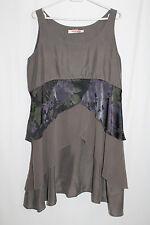 cocon.commerz PRIVATSACHEN FILTERRA Kleid aus MERIANSILK in graubraun Gr. 2
