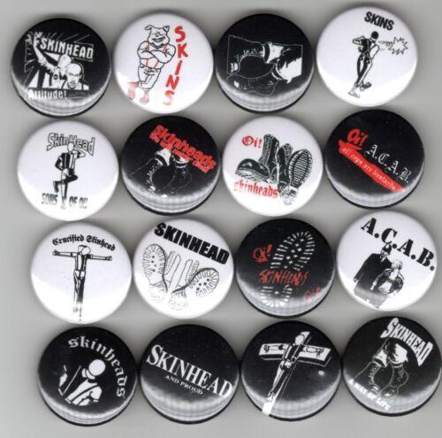 16 Badge Set Skinhead oi