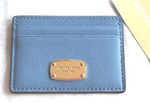 Details zu Michael Kors Jet Set Item Card Holder Neu sky Karten Etui Case blau