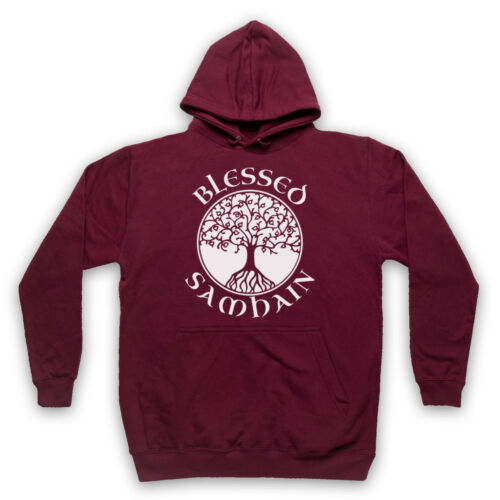 BLESSED SAMHAIN GAELIC FESTIVAL HALLOWEEN SLOGAN ADULTS KIDS HOODIE