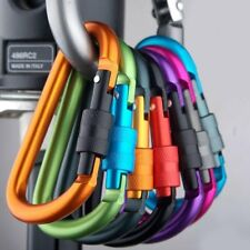 5x Coloured Carabiner Clip Snap Hook Small Keyring Camping Sports Karabiner UK