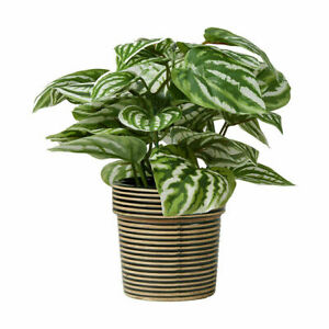Artificial Faux Plant With Pot Caladium Fake Tree For Party Office Home Decor Kk Ebay