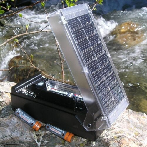 QUICK SHIP!! New Solar Battery Charger For AA AAA C & D! Free Shipping!