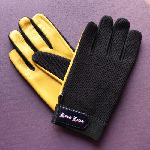 Mens leather mesh SOFT GUIDA GUANTI stile RETRÒ alta qualità Autista King